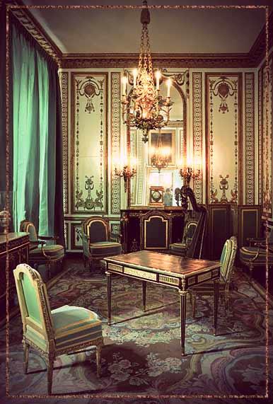 Marie Antoinette's cabinet doré at Versailles.