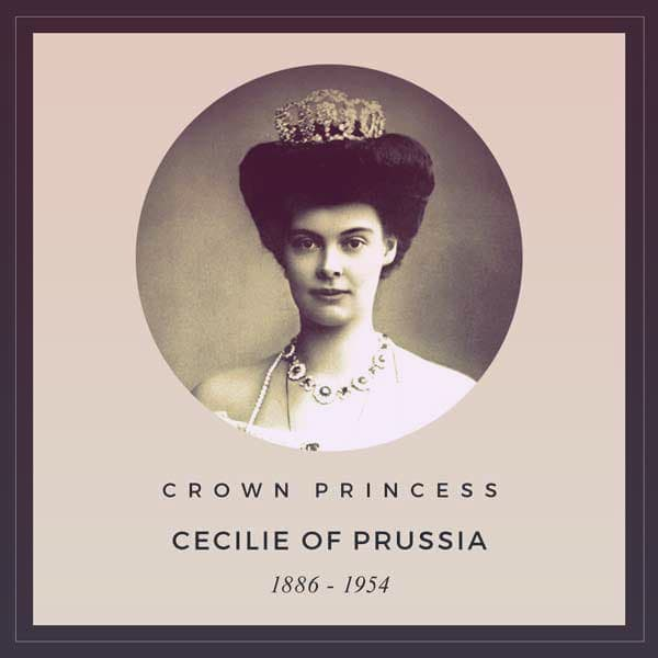 Crown Princess Cecilie of Prussia, 1886-1954 | from 5 Types of Kokoshnik Tiaras