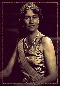 Grand Duchess Charlotte of Luxembourg wearing the Grand Duchess Adelaide tiara