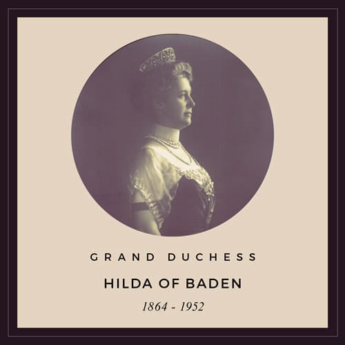 Profile photo of Grand Duchess Hilda of Baden (1864-1952) wearing the tiara that was stolen in 2017.