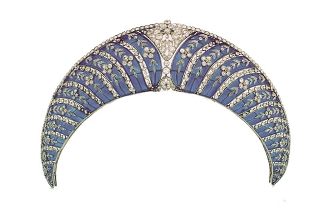 The Westminster enamel kokoshnik tiara, one of five featured in 5 Types of Kokoshnik Tiaras