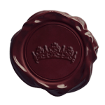 Wax seal with tiara embossed