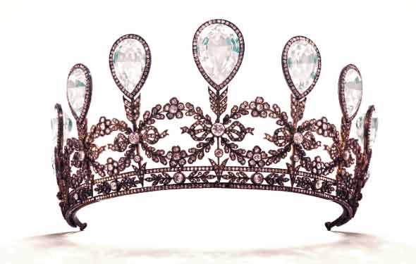 Grand Duchess Alexandra of Mecklenburg-Schwerin's diamond and aquamarine tiara | from Tiaras in the News 2019
