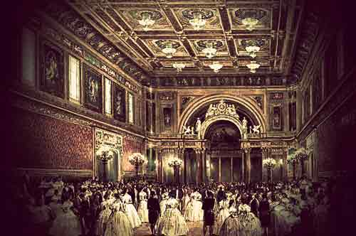 Painting by Louis Haghe: The New Ballroom, Buckingham Palace