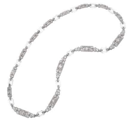 Chaumet diamond and rock crystal sautoir