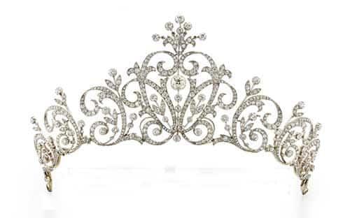 Diamond garland tiara.