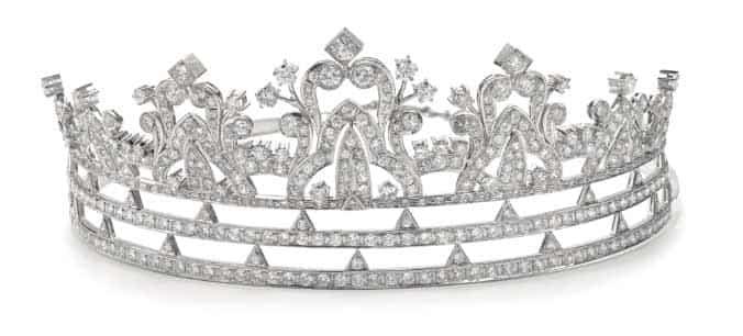 Diamond tiara. Image: Sotheby's.