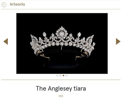 The Anglesey tiara, on display at TEFAF Maastricht