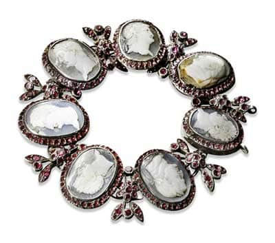 Mellerio ruby-and-cameo bracelet, probably owned by Marie Antoinette