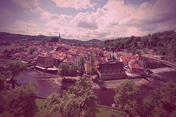 Cesky Krumlov and the Vltava River