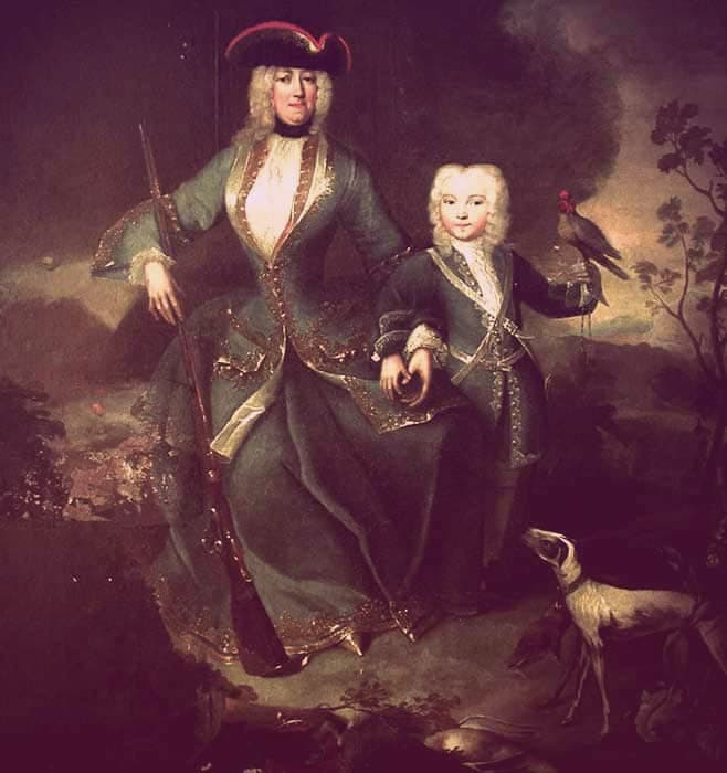 "Eleonora von Scharzenberg and her son, Josef Adam | From ""Was Eleonora von Schwarzenberg a Real-Life Vampire Princess?"" on GirlInTheTiara.com."