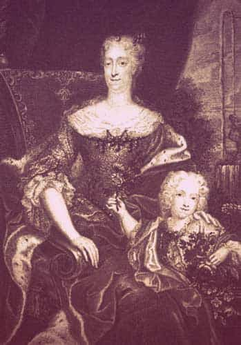 "Eleonora and her son, Josef Adam | From ""Was Eleonora von Schwarzenberg a Real-Life Vampire Princess?"" on GirlInTheTiara.com."