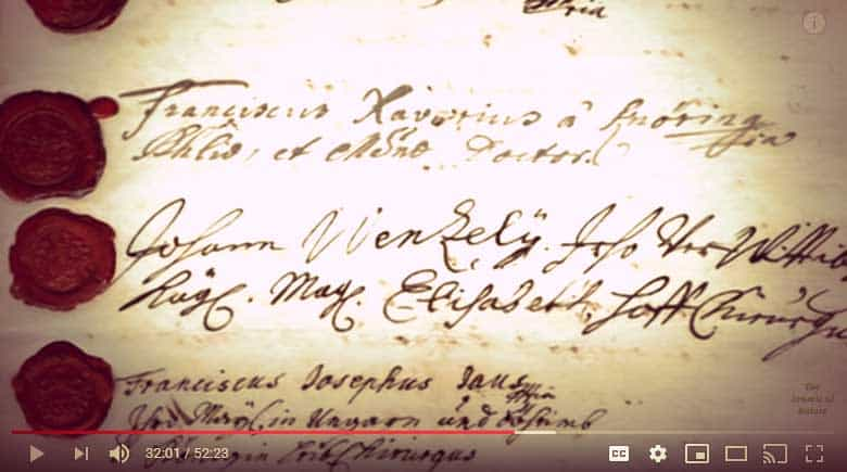 "Screenshot of ""The Vampire Princess"" documentary 