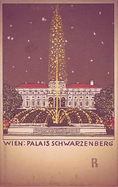 Vintage artwork depicting the Palais Schwarzenberg
