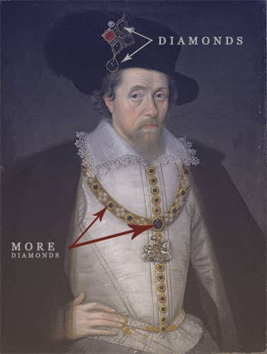 James I's diamonds