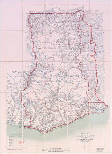 Map of Ghana from the 1920s.