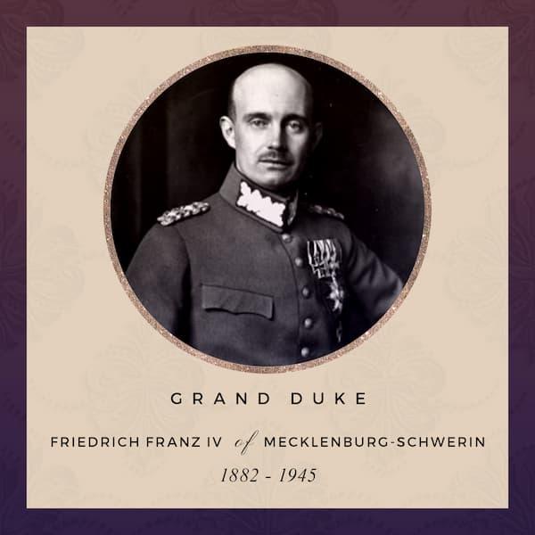 Grand Duke Friedrich Franz IV of Mecklenburg-Schwerin 1882-1945 - future husband of Alexandra of Mecklenburg-Schwerin