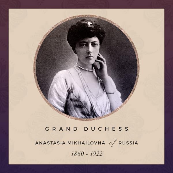 Grand Duchess Anastasia Mikhailovna of Russia 1860-1922, mother-in-law of Alexandra of Mecklenburg-Schwerin.