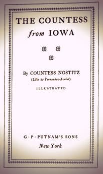 The Countess from Iowa by Countess Nostitz