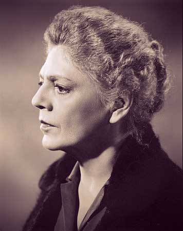 Ethel Barrymore in a publicity photo - she's older, with graying hair in a chignon.
